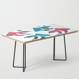Pattern Oil Painting Abstract Tropical Fish Coffee Table