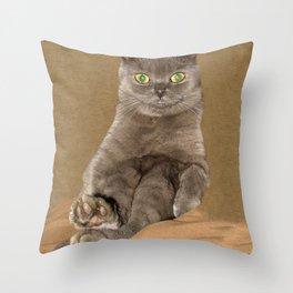 Misty (Selkirk Rex) Throw Pillow