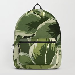 Hostas, altered reality graphic design, shades of green Backpack