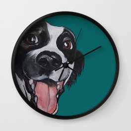 Maeby the border collie mix Wall Clock