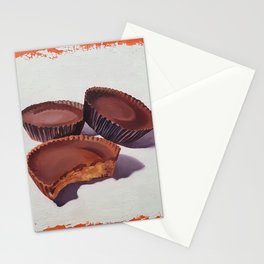 Peanut Butter Cups painting Stationery Cards