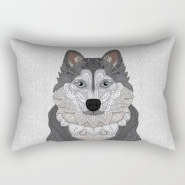 Husky Portrait Rectangular Pillow