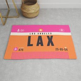 Baggage Tag A - LAX Los Angeles USA Rug