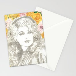 Jolene with Yellow Roses Stationery Cards