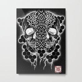 Transcendence: An awakening (White on Black version) Metal Print