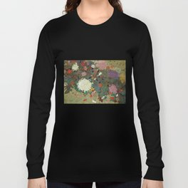 flower【Japanese painting】 Langarmshirt