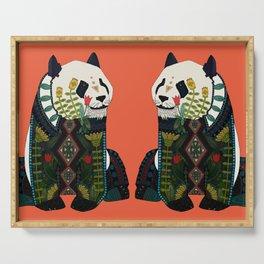 panda orange Serving Tray