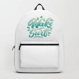 Wake surf lettering Backpack