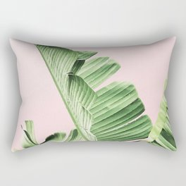 Banana Leaf on pink Rechteckiges Kissen