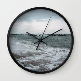 The sea ... mirror of the sky Wall Clock