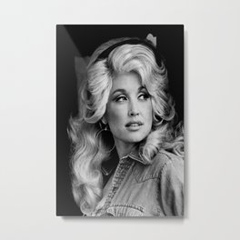 Dolly Parton Poster, Country Music poster Metal Print