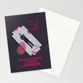Investigation of a citizen above suspicion, italian movie, Elio Petri, Gian Maria Volontè Stationery Cards