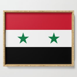 National flag of Syria Serving Tray