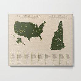 US National Parks - New Hampshire Metal Print