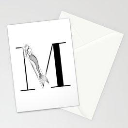 Mermaid Alphabet - M Stationery Cards