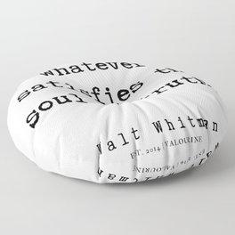 2 | Walt Whitman Quotes | 190803 Floor Pillow