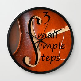 Small Simple Steps Wall Clock