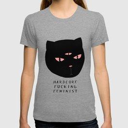 hardcore fucking feminist T-shirt