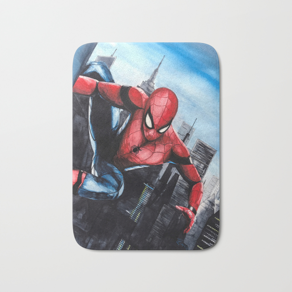 Spider-man: Homecoming Bath Mat by Legacyart BMT7715919