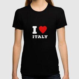 I Love Italy Gift Idea Funny T-shirt