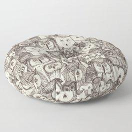just owls natural Floor Pillow