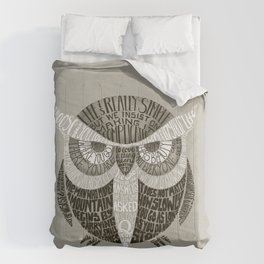 Wise Old Owl Says Comforters
