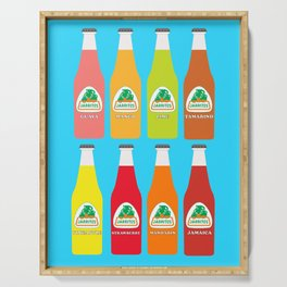Jarritos the all natural fruit flavored sodas Serving Tray