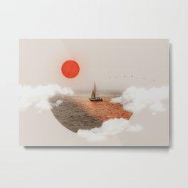 Golden Hour - Digital Collage Metal Print