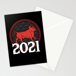 Chinese Zodiac 2021 Year Of The Ox New Year Gift Stationery Cards