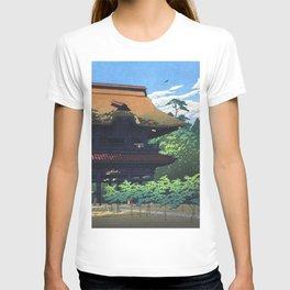 Kawase Hasui, Kencho-ji Temple, Kamakura - Vintage Japanese Woodblock Print Art T-shirt