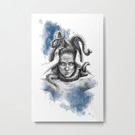 Nothing kills me like my mind Metal Print