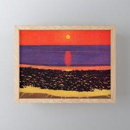 Sunset - Coucher de Soleil by Félix Vallotton - Colorful Les Nabis Art Framed Mini Art Print