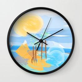 An Island  Wall Clock