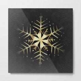 Gold Snowflake Metal Print
