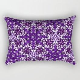 Bohemian Purple Fancy Tile Rectangular Pillow