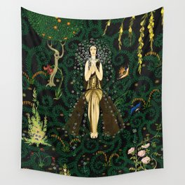 1921 Classical Masterpiece 'Flowers and Flames' by Kay Nielsen Wall Tapestry