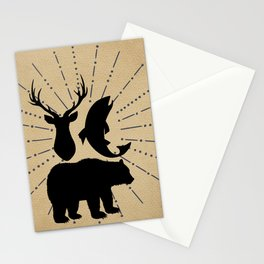 Outdoorsman Trio Silhouette Stationery Cards
