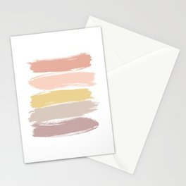Abstract Brush Strokes Caramel Stripes Stationery Cards