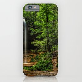 Photos USA Ash Cave Ohio Hocking Hills State Park Crag Nature Waterfalls Rock Cliff iPhone Case