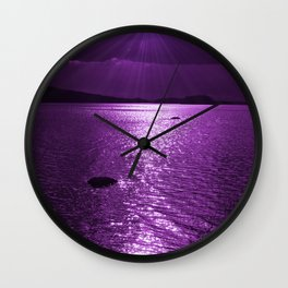 Ultraviolet Lakescene Scandinavian View Wall Clock