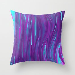 Pink, Purple, and Blue Waves 2 Throw Pillow