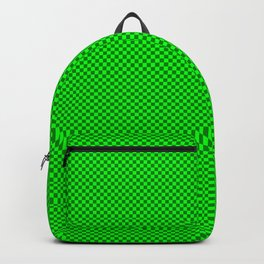 Green and dark green squares Backpack