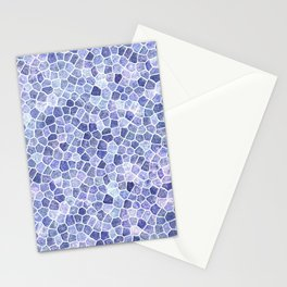 Pale Blue Cobbled Patchwork Terrazo Pattern Stationery Cards