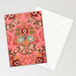 Pink Baroque Decoration vintage illustration pattern Stationery Cards