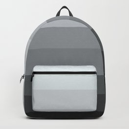 Gray Ombre Stripes Backpack