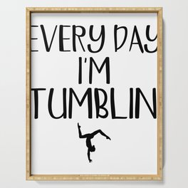 Gymnast Every Day I'm Tumblin' Gymnastics Serving Tray
