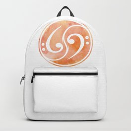 Bass Clef Gift Musician Backpack