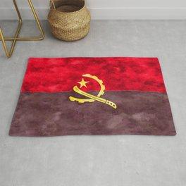 Angola Flag Restored Material Used 4k Machete Engine   Rug