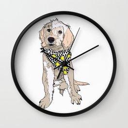 Lemon the Labradoodle Dog Wall Clock