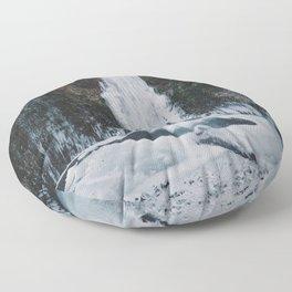 Frozen Multnomah Falls Floor Pillow